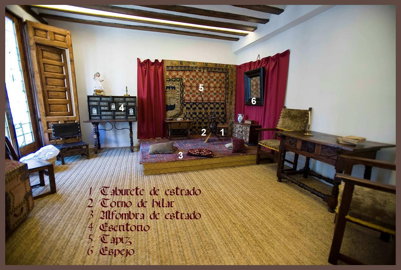 Estrado de la Casa Museo de Cervantes, Valladolid (s. XVII)