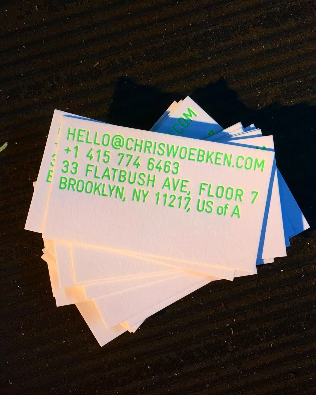 Neon green letterpress business cards all of the fluorescent and neon green letterpress business cards all of the fluorescent and metallic inks are part of our standard collection dolcebusiness reheart Choice Image