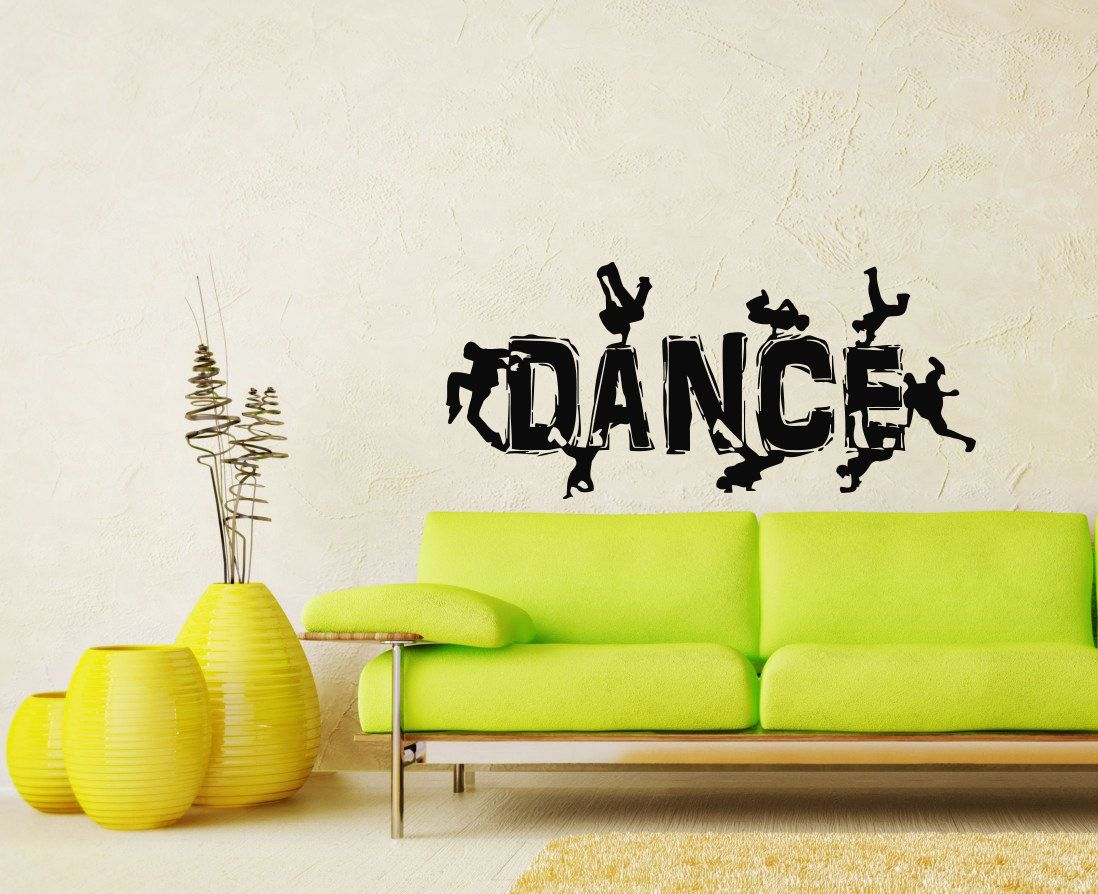 Guys Dancing Break Dance Silhouette Decal Wall by SuperVinylDecal ...