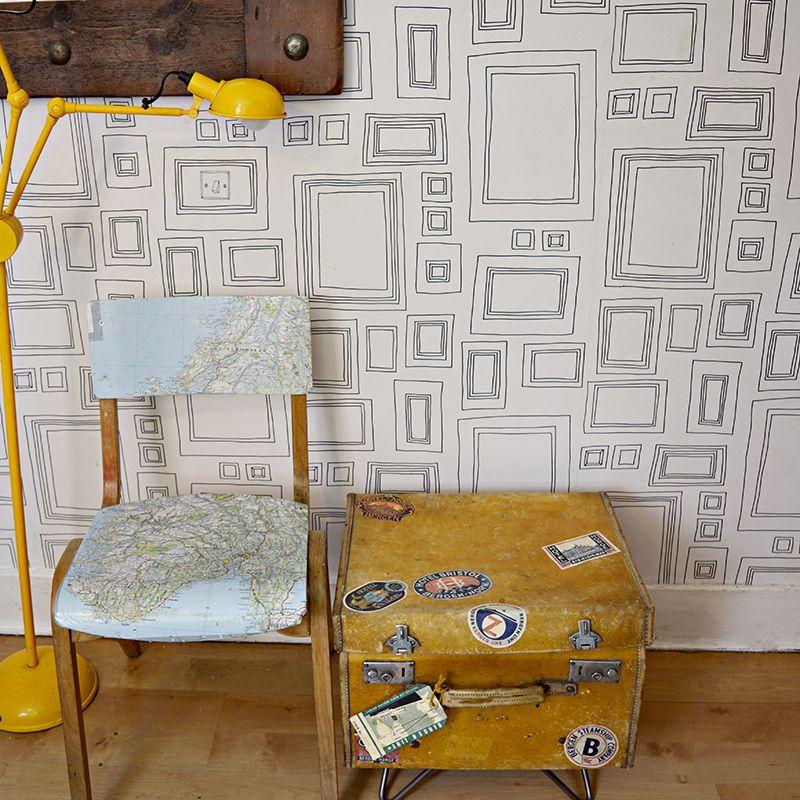 Upcycled suitcase side table - Pillarboxblue.com