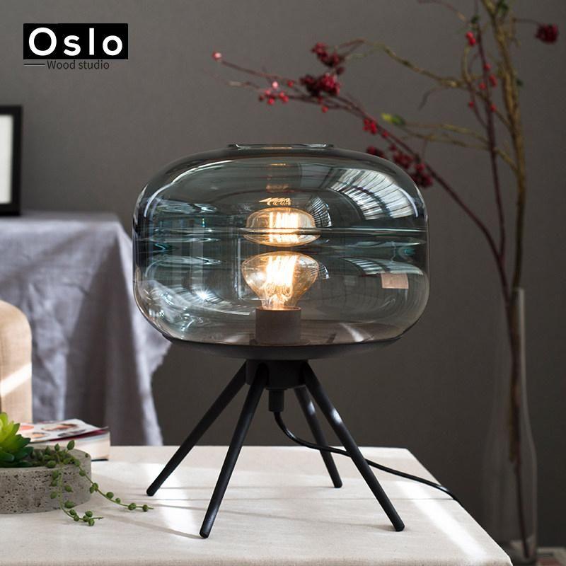 Moderno Cristal Dormitorio Lámpara De Mesa Estudio Lámparas