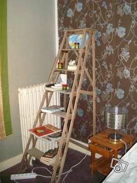 ancien escabeau bois d coration ille et vilaine chiner escabeau bois bois. Black Bedroom Furniture Sets. Home Design Ideas