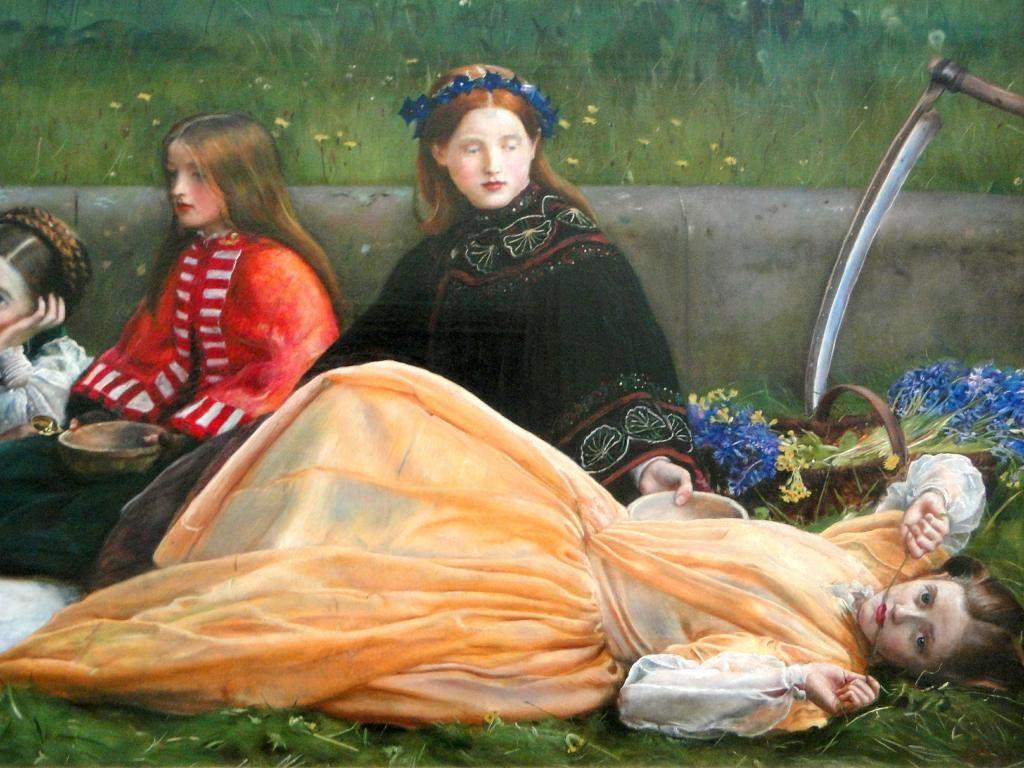 John Everett Millais / Spring. Apple Blossoms (detail#4)