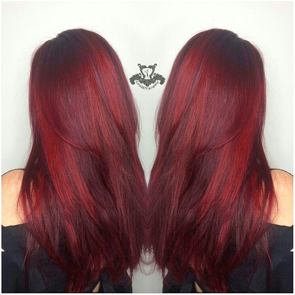 Multi Toned Vibrant Red Hair Color  Httpsarasotabradentonhairsaloncommu