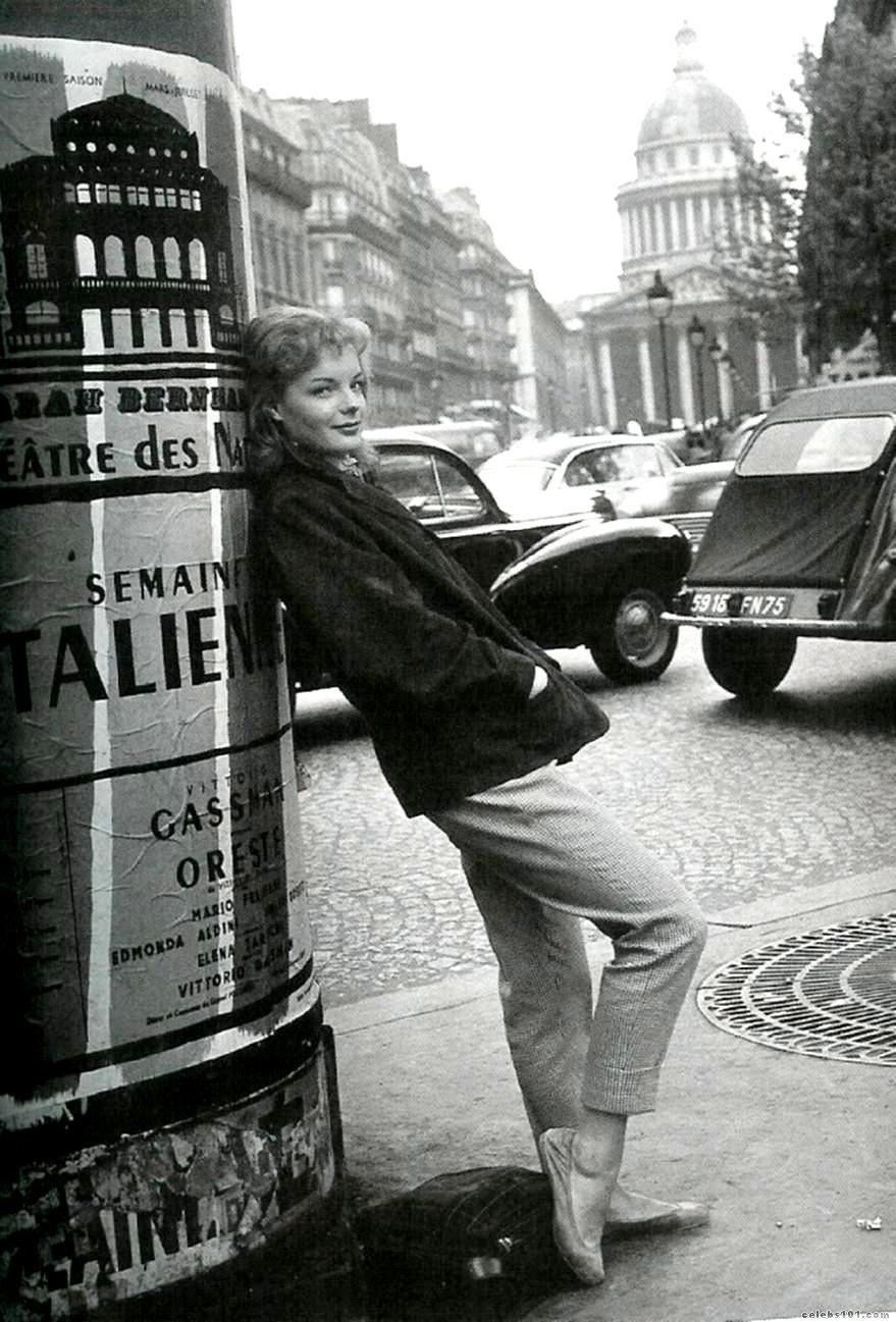 Paris 50s Romy Schneider Actrices Filmsterren Acteurs