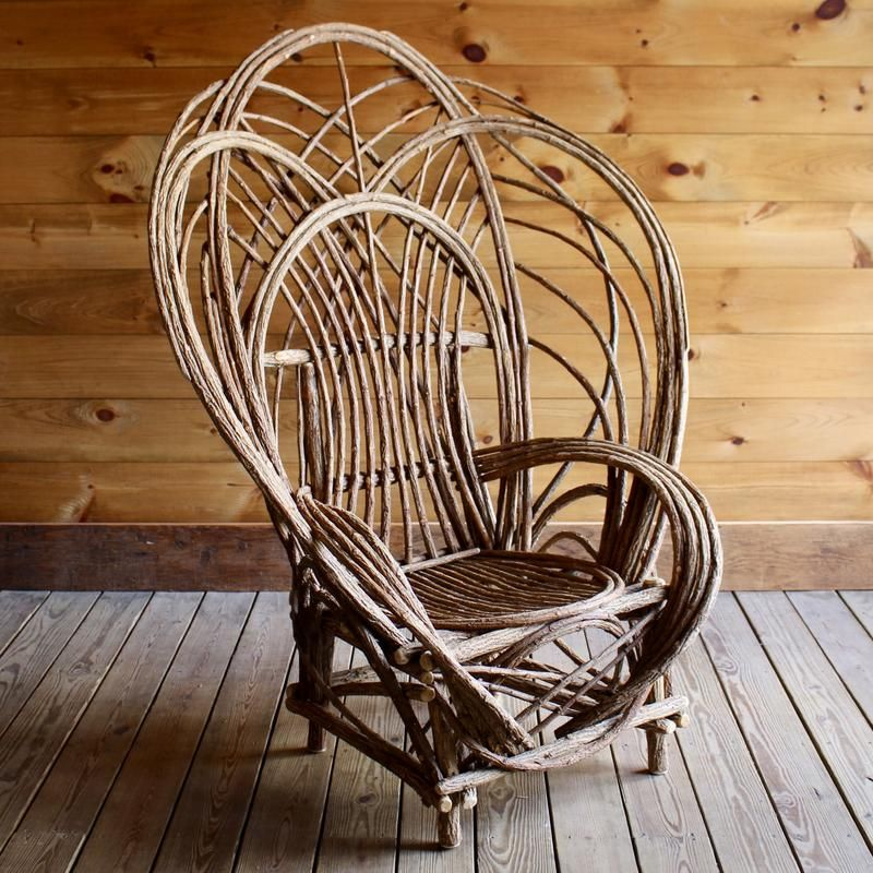 Oversized Bentwood Willow Chair