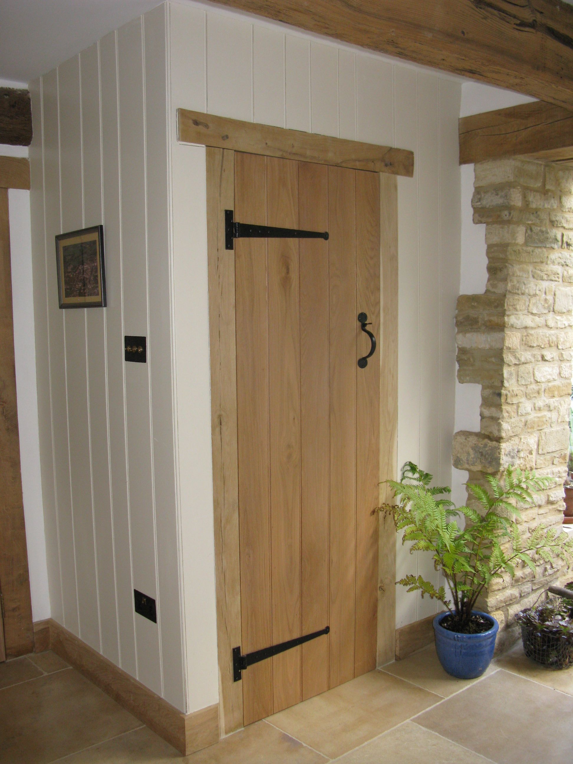 Ledge u0026 Brace Oak Door. Ledge and Brace Solid Oak Door. Wooden Ledged Door. : ledged doors - pezcame.com