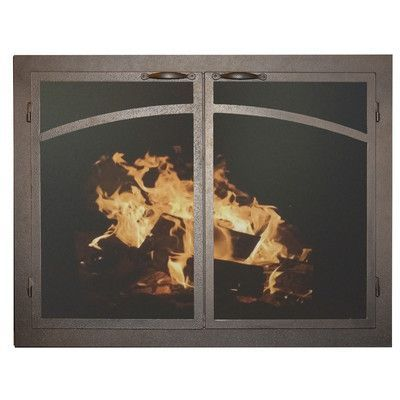 Ironhaus Elegant Series Fireplace Glass Door Finish Textured Copper