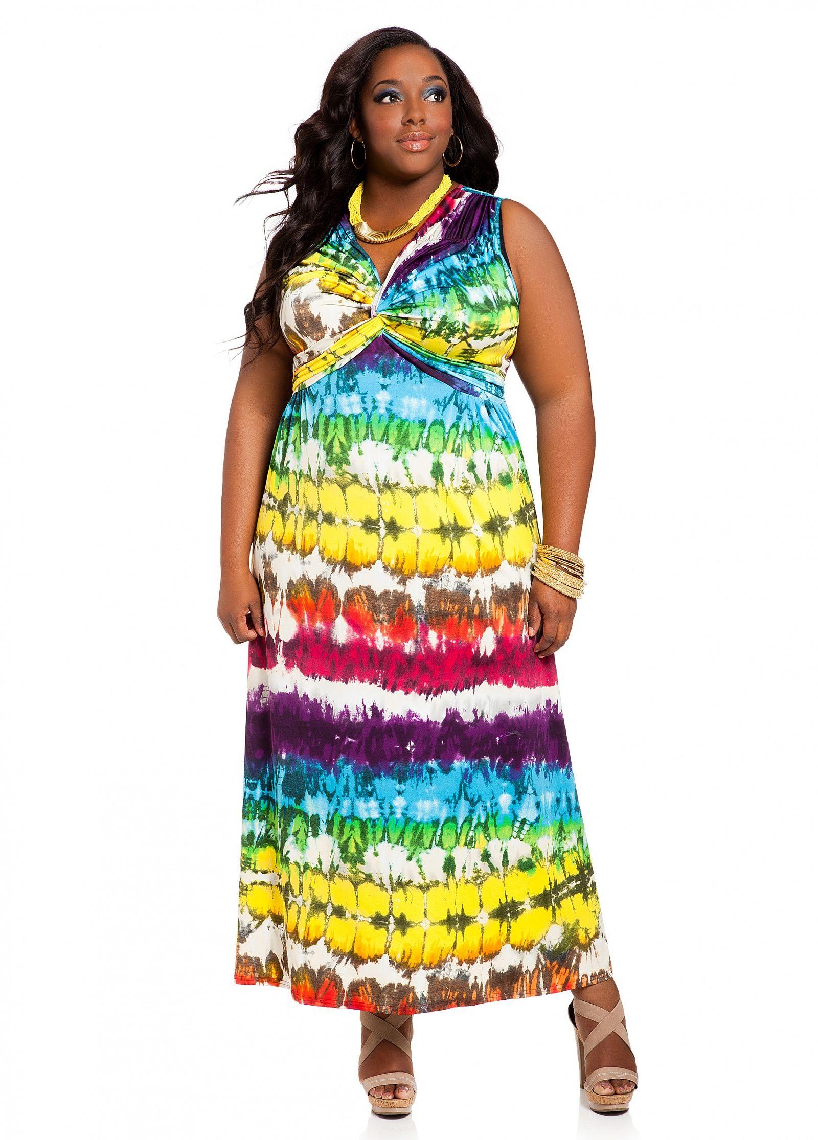 Multi Colored Plus Size Dresses