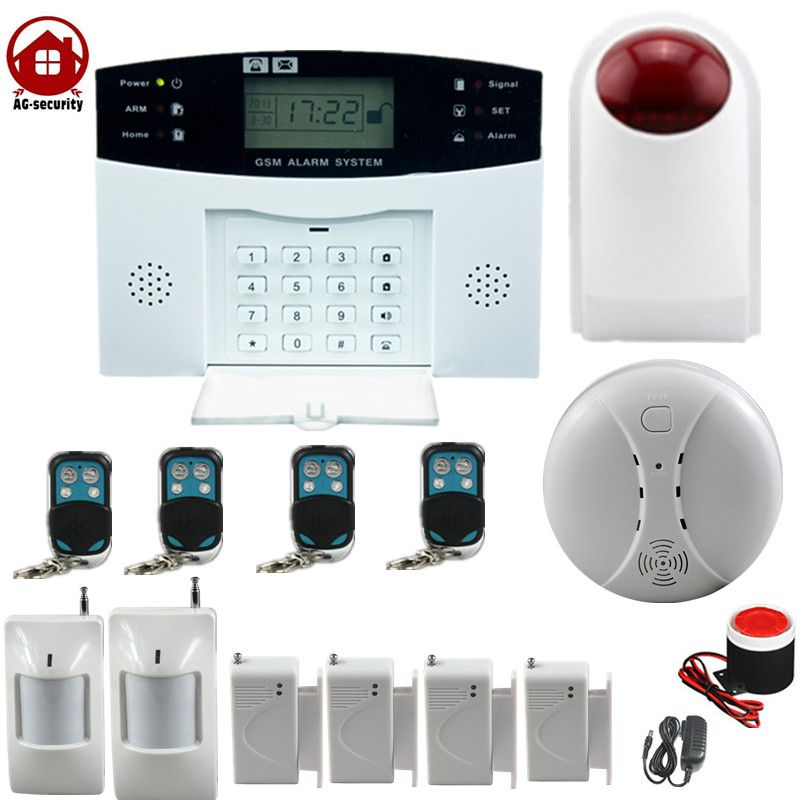 gsm wireless home burglar security alarm Detector Sensor Kit smoke ...