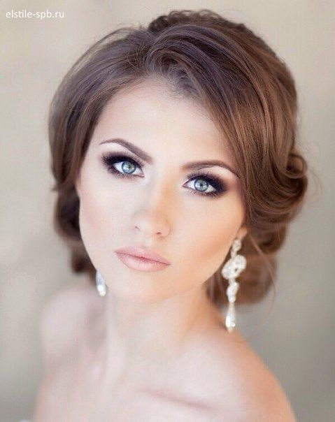 Bridal makeup for blue eyes