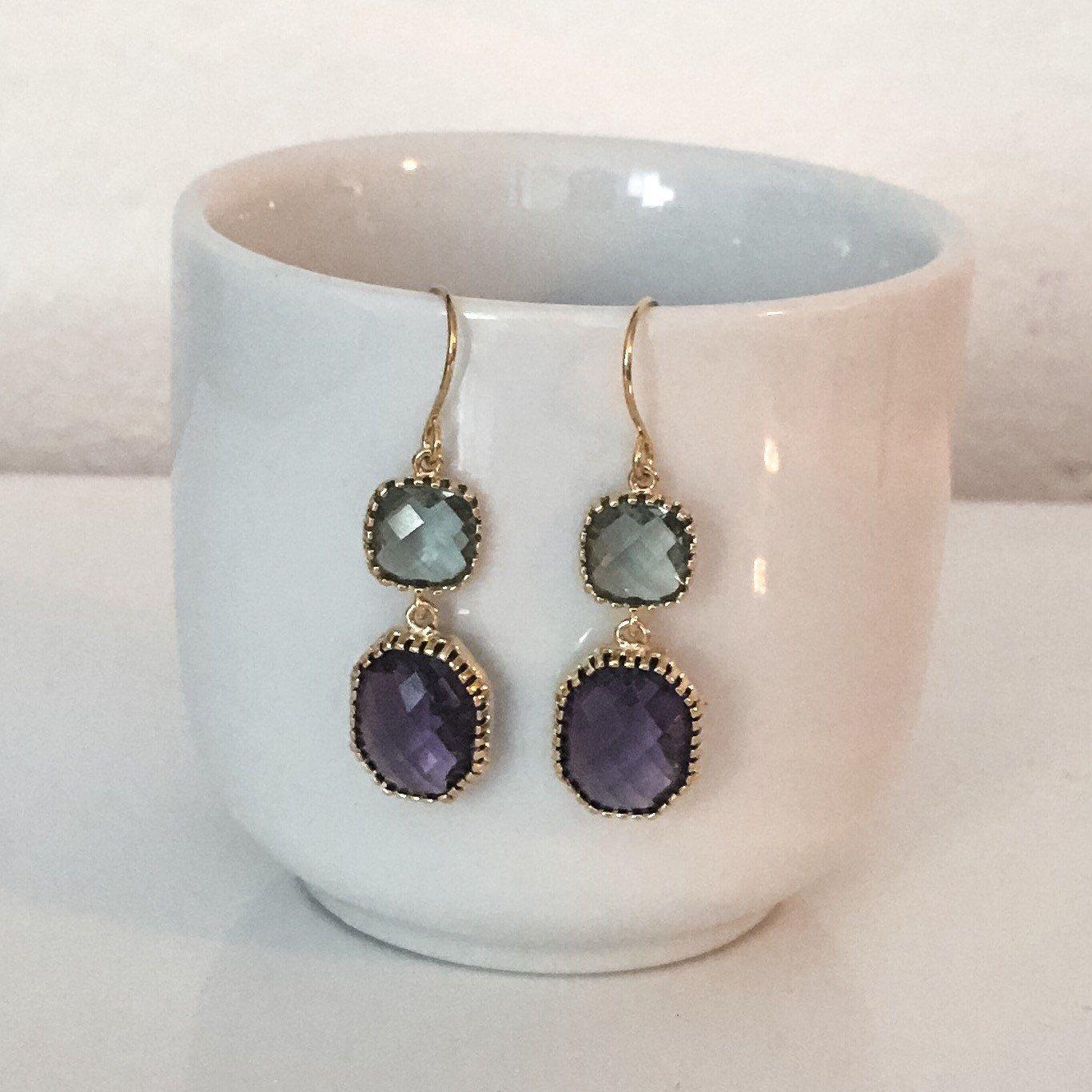 Black Diamond & Tanzanite (faux) Dangle Earrings by TheArtsyNomad on Etsy https://www.etsy.com/listing/294801551/black-diamond-tanzanite-faux-dangle