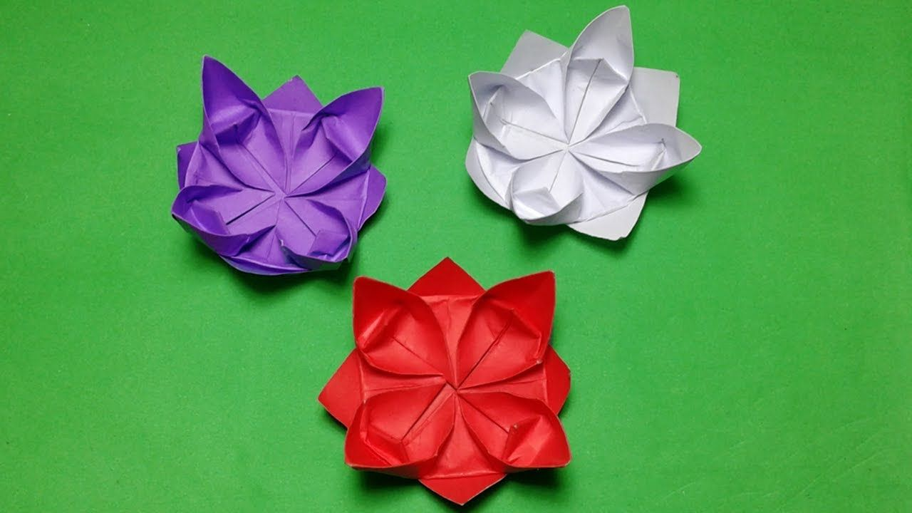 Origami Flowershow To Make Paper Flowers Step By Stepsimple