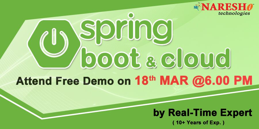 Attend free demo on spring boot cloud on 18th march19