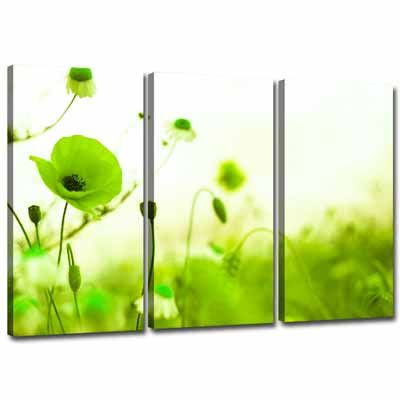 3 green Canvas Wall Decor | Lime-Green-Canvas-Wall-Art-