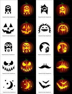 Free Simple Pumpkin Carving Stencils For Children