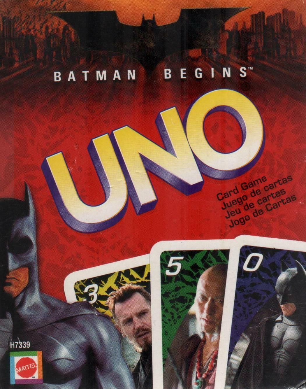 Batman begins uno card game complete but instructions