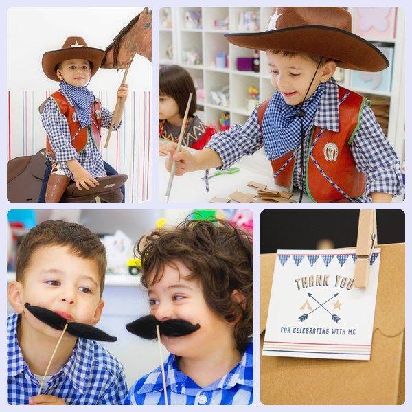 Fiesta infantil tem tica de indios y vaqueros vaqueros - Actividades cumpleanos adultos ...