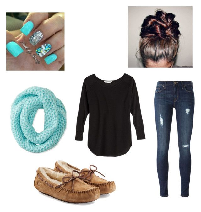 """""""Untitled #7"""" by hintzj2020 ❤ liked on Polyvore featuring UGG Australia, Victoria's Secret, Hudson and Aéropostale"""