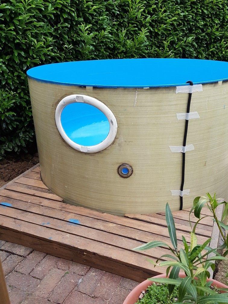 Pool Mit Bullauge Pool Badetonne Solar