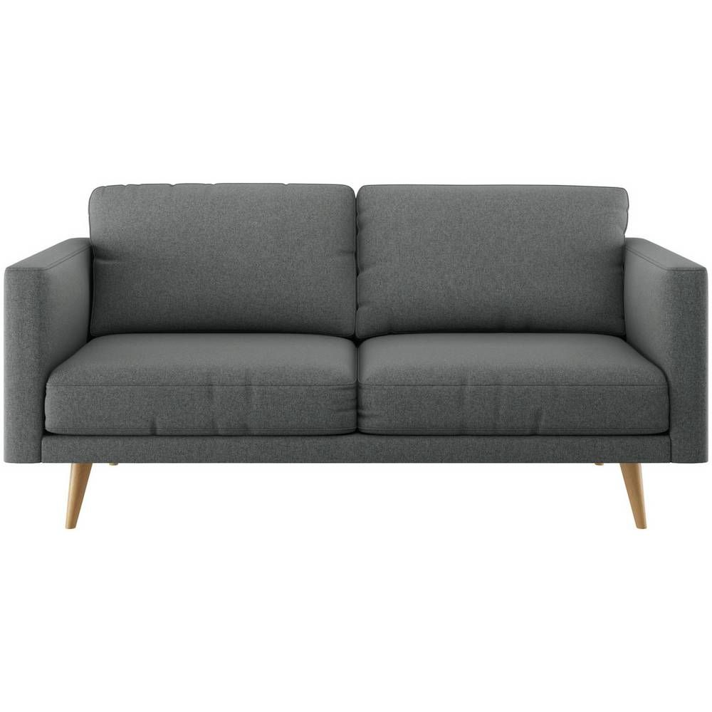Buy Habitat Hardwick 3 Seater Fabric Sofa Grey Sofas Fabric Sofa Gray Sofa Furniture Care