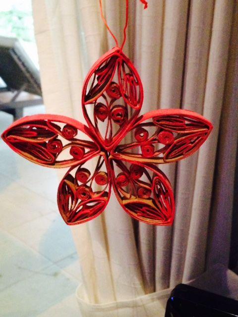 adornos navideos con rollos de papel higinico artesanas que