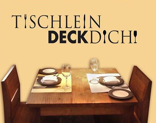 wandtattoo sprche wandsprche nobr181 tischleindeckdich kche kitchen essen - Kuchen Wandtattoo Spruche