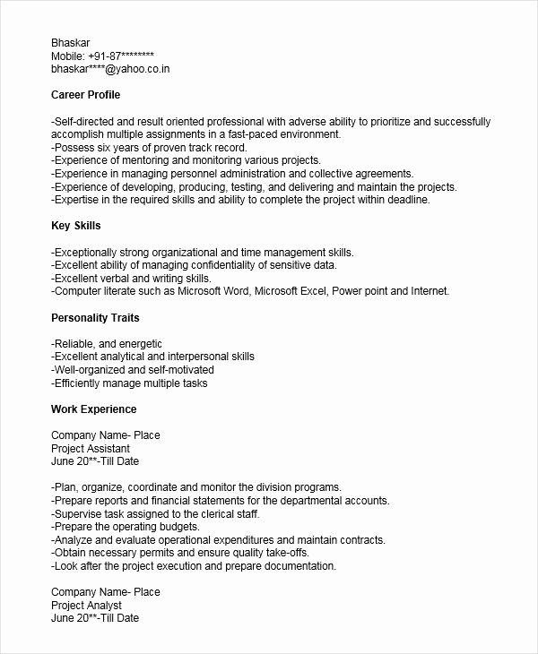 assistant project manager resume luxury 52 manager resume
