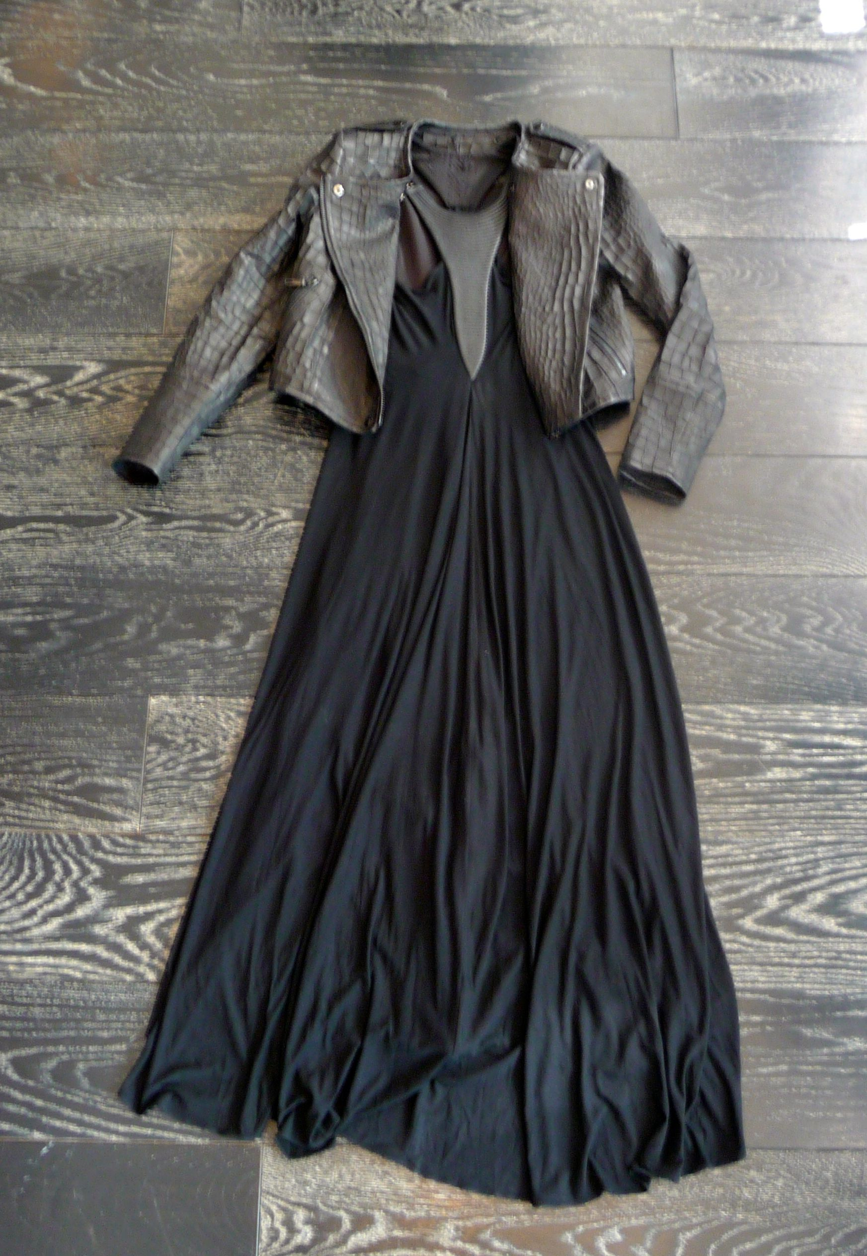 Similar To The Ever Popular Leather And Lace We Give You Leather And Length Wear Your Favorite Maxi Dress Year Round We Maxi Dress Leather And Lace Fashion [ 2528 x 1745 Pixel ]