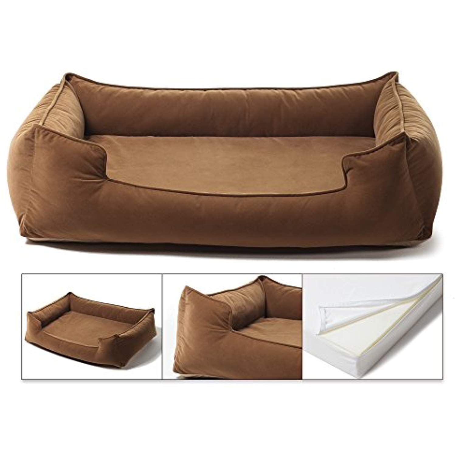 """Petsbao Premium Dog Bed with 4"""" Solid Memory Foam"""