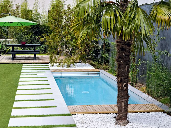 Piscines christine caron dimensions 2 x 6 m hauteur d - Petite piscine design ...