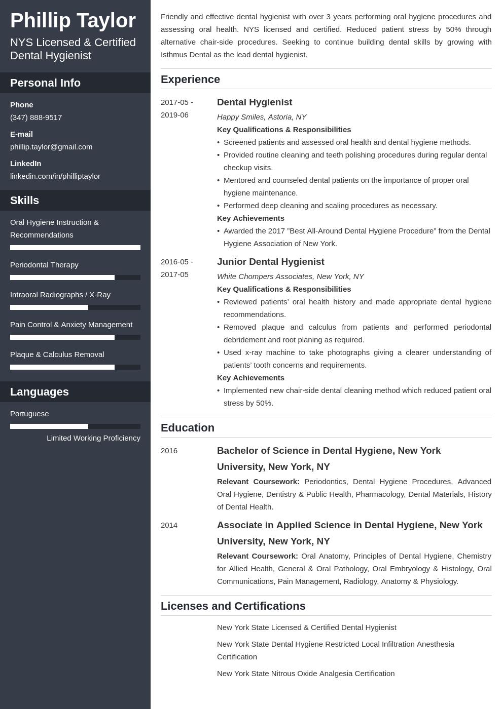 dental hygiene resume example template cascade in 2020