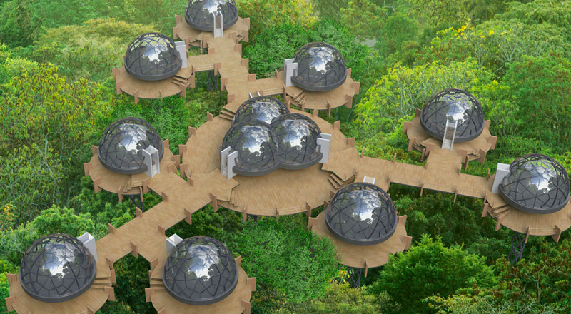 Smartdome The Mobile Modular Prefab For All Climates Dornob Geodesic Dome Homes Dome House Geodesic Dome