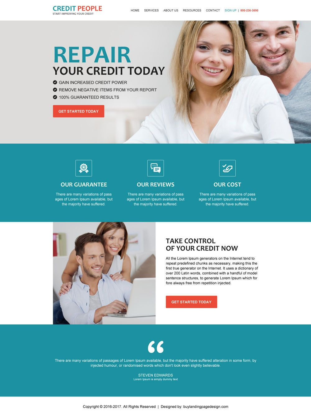 Check Out My Behance Project Responsive Website Template For - Credit repair website template