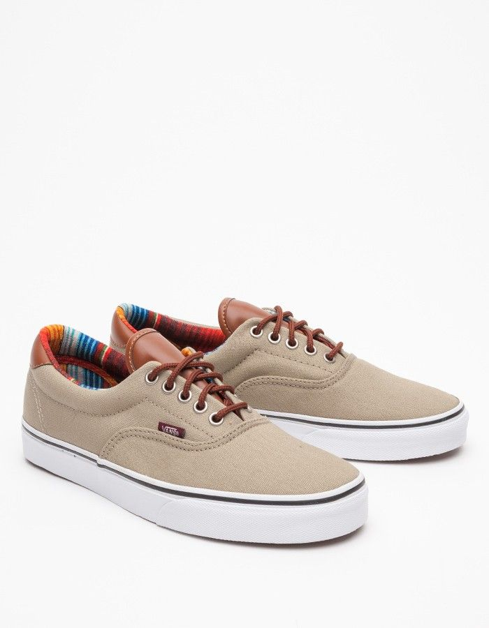 6a4edc03e1618f Vans Era 59 in Dune and Stripe in Beige for Men (multi)
