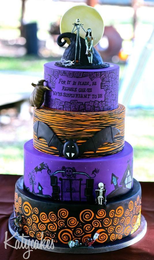 Nightmare Before Christmas Wedding Cake - Cake by Katycakes Austin