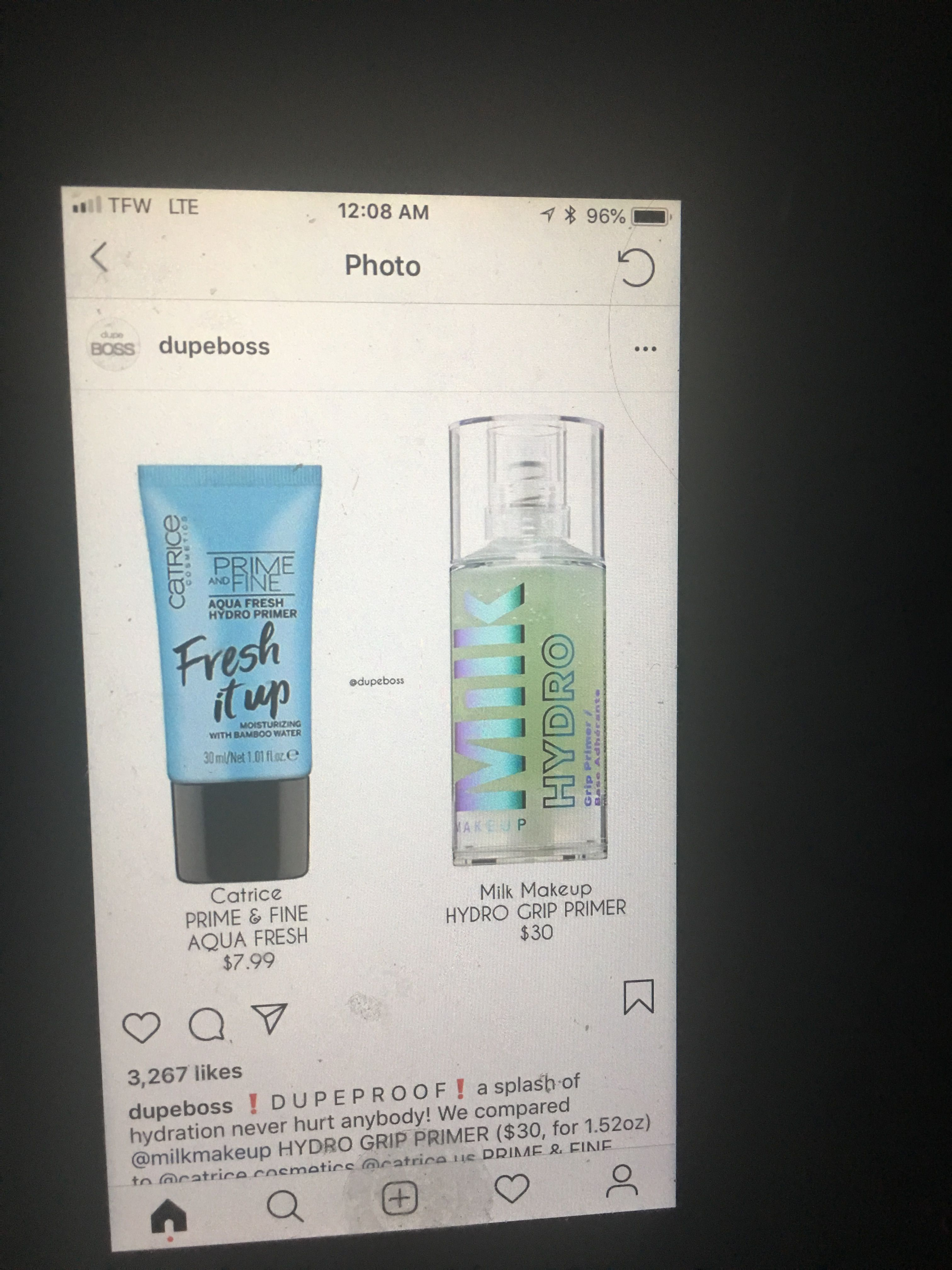 Milk makeup Hydro Primer Dupe!! Catrice Fresh Up Primer