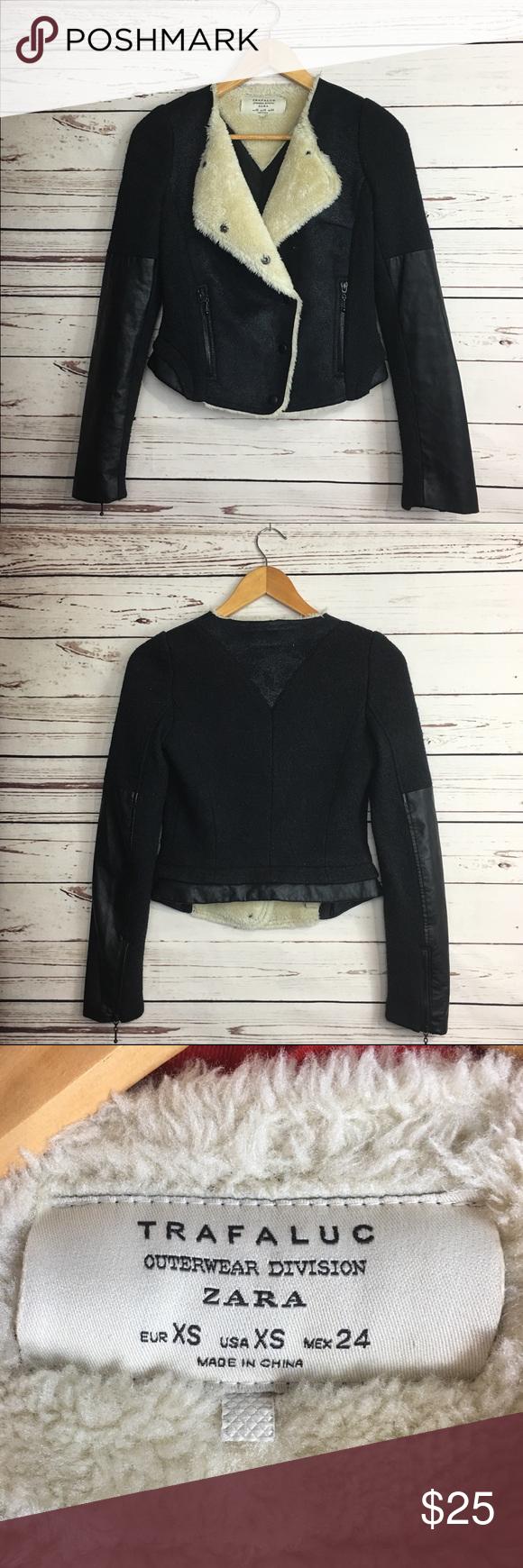 Zara Trafaluc Outerwear Division Jacket Wool Blend Outerwear Zara Zara Jackets [ 1740 x 580 Pixel ]