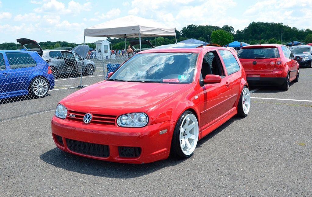 Volkswagen Golf Gti Mk4 Modified Stance Show Car Red Volkswagenr32 Volkswagen Vw Golf Mk4 Gti