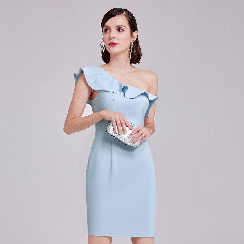 Wedding dresses for short women  Cool Awesome Short Womenus Elegant OneShoulder Wedding Guest