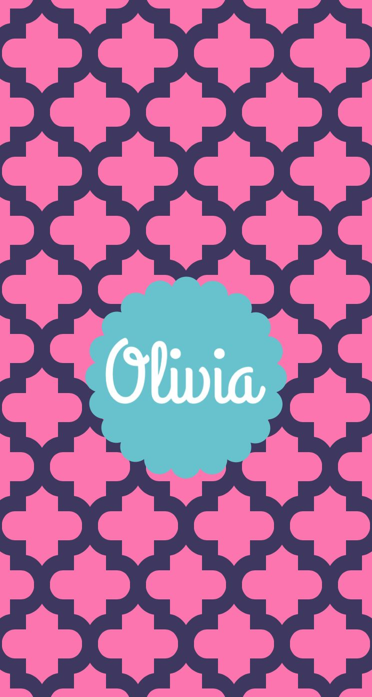 This Monogram Goes To Olivia With Images Name Wallpaper