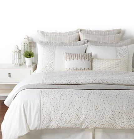 Hudson Park Raindrops Stone Gray And Beige Queen Coverlet Bed Cal King Bedding Home