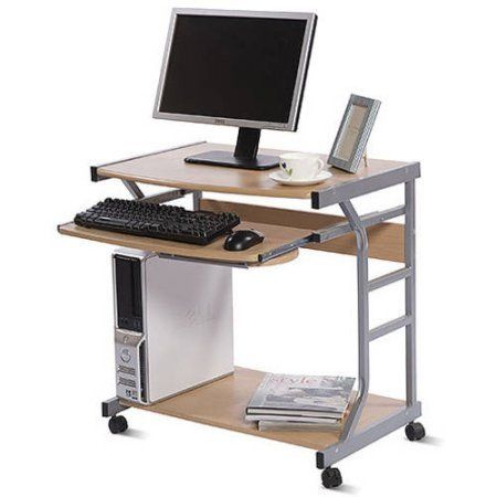 Small Compact Mobile Portable Student Computer Berkeley Desk With Wheels Small Computer Desk Home Office Furniture Desks For Small Spaces