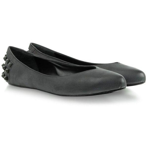 McQ Alexander McQueen Black & White Ballerina Flats