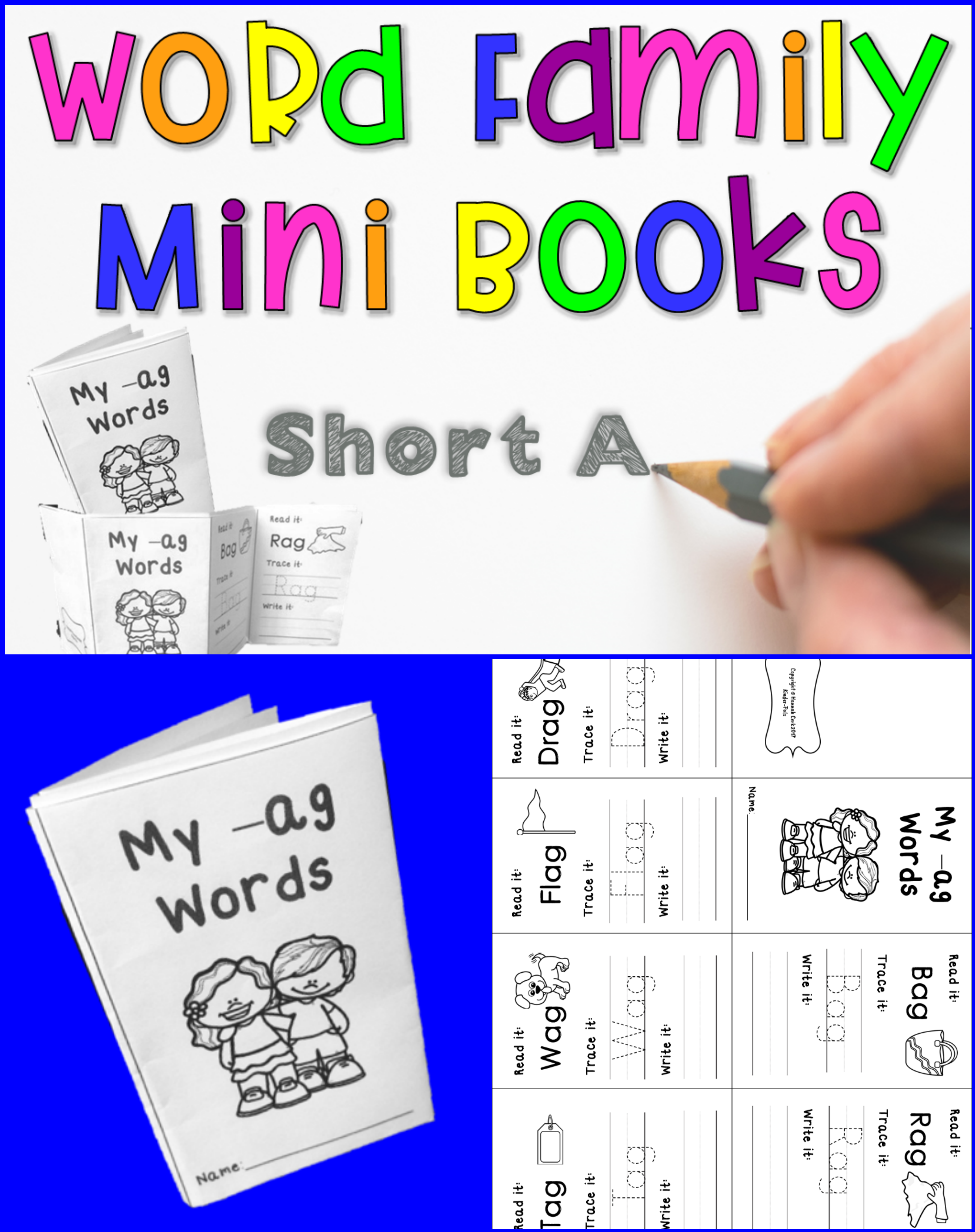 Cvc Words Activities Short A Mini Books