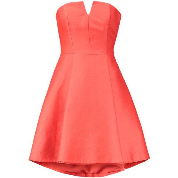 Strapless dress · Halston Heritage Strapless cotton and silk-blend ...