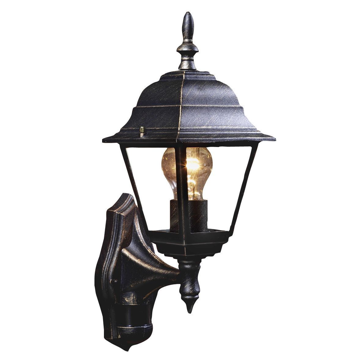 Bq polperro antique effect black 60w mains powered external pir bq polperro antique effect black 60w mains powered external pir lantern aloadofball Gallery