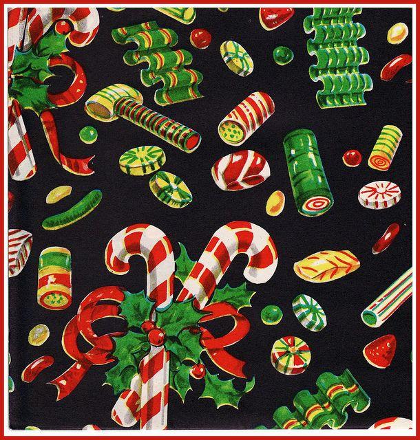 Christmas Candy Vintage Christmas Wrapping Paper Christmas Paper Vintage Christmas Cards