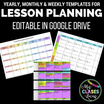 Lesson Planning Templates - secondary - Google Drive editable