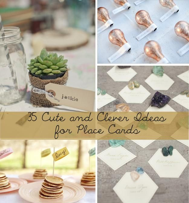 Wedding Place Name Ideas: 35 Cute And Clever Ideas For Place Cards